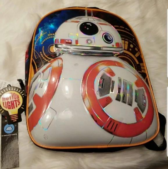 e46841e1dc Motion Lights BB8 Star Wars Backpack